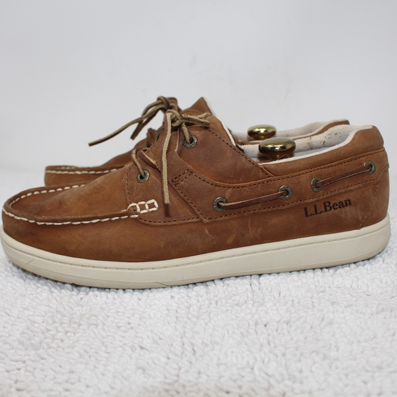cbae87d0fd0 L.L. Bean Other - LL Bean Leather Deck Boat Shoes Loafers Size 11 W